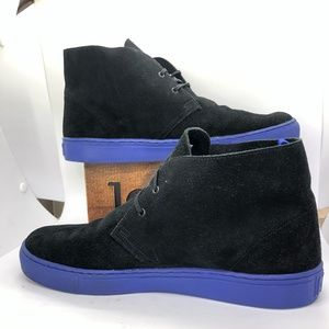 aLife Black Chukka Lace-Up Ankle Boots-Size 12